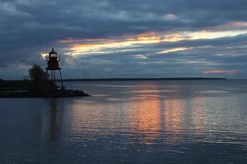 Alpena Light (Alpena, Michigan) - Sunrise on October 10, 2014