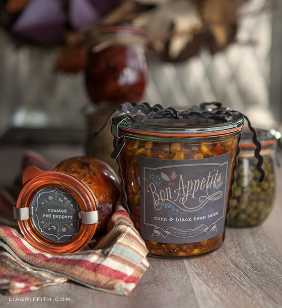 1- Etichette stampabili per i regali 'alimentari' in autunno Printable Labels for Your Foodie Fall Gifts