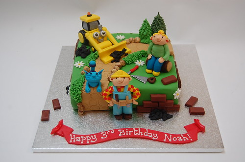 Terrific Bob The Builder Cake Beautiful Birthday Cakes Funny Birthday Cards Online Elaedamsfinfo