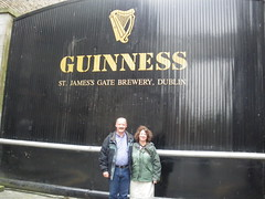 Jayne and Stefan at the Guinness St. James's Gate Brewery, Dublin, Ireland