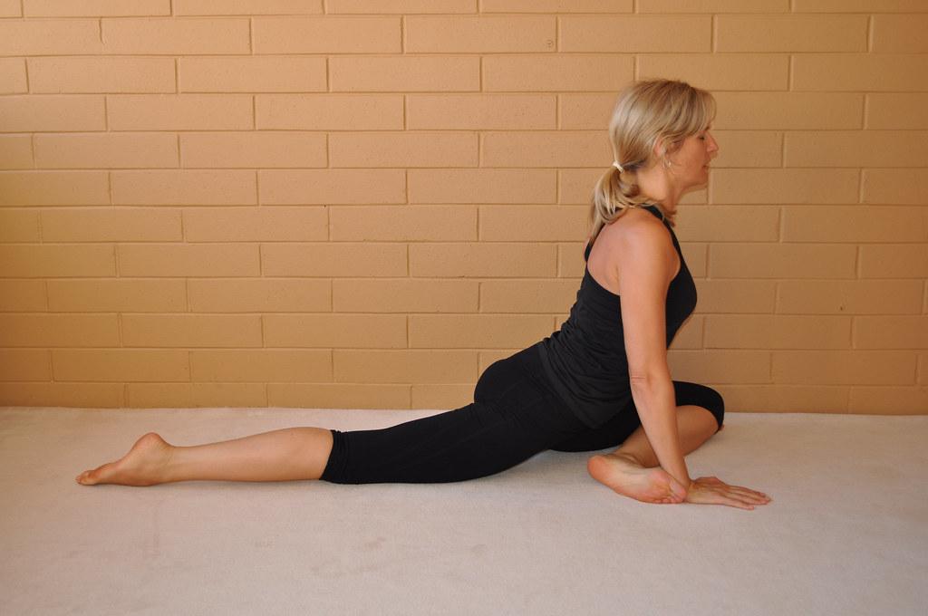 yin yoga swan pose, proud pigeon pose, rajakapotasana