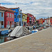 Along the Canal in Burano