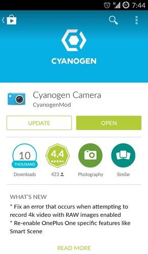 Cyanogen Camera update