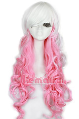 65cm Gothic Classical Mix White Pink Cosplay Wig C54