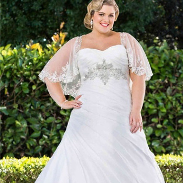 Weddings plussizebrides plus weddinggown for Cover up wedding dress