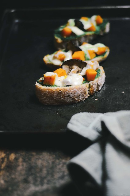 Butternut Squash and Green Chutney Tartines | A Brown Table