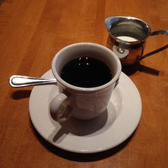 """OK, Japan fans.... I've mentioned before that nothing """"Japanese"""" in the USA is ever quite fully """"Japanese.""""  This comment is mainly directed at food. This photo shows a """"real"""" cup of Japanese style coffee. Without consideration for the taste, can you poin"""