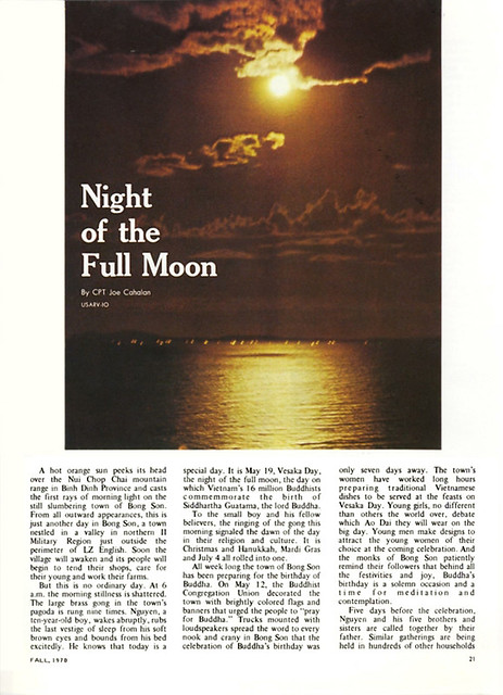 Uptight Magazine, Vietnam, Fall 1970 (2) - Night of the Full Moon - Đêm Rằm