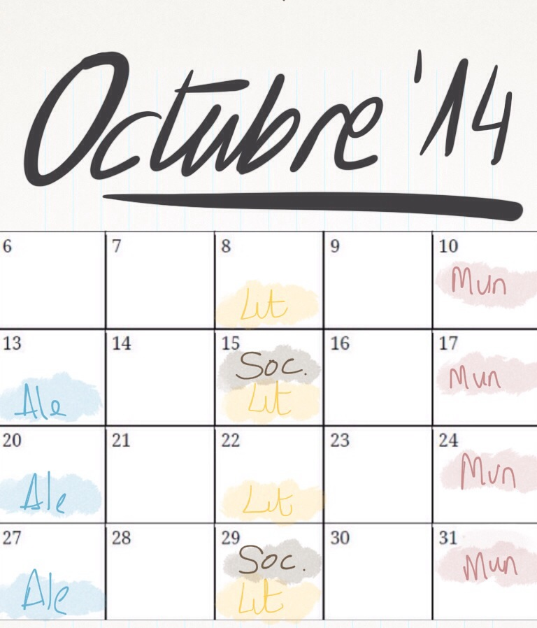 Planner octubre