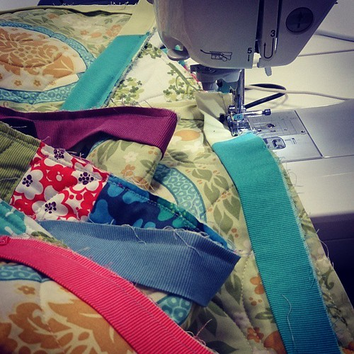 I'm calling this the sherbet binding, because that's what I think of when I look at it. #quilting