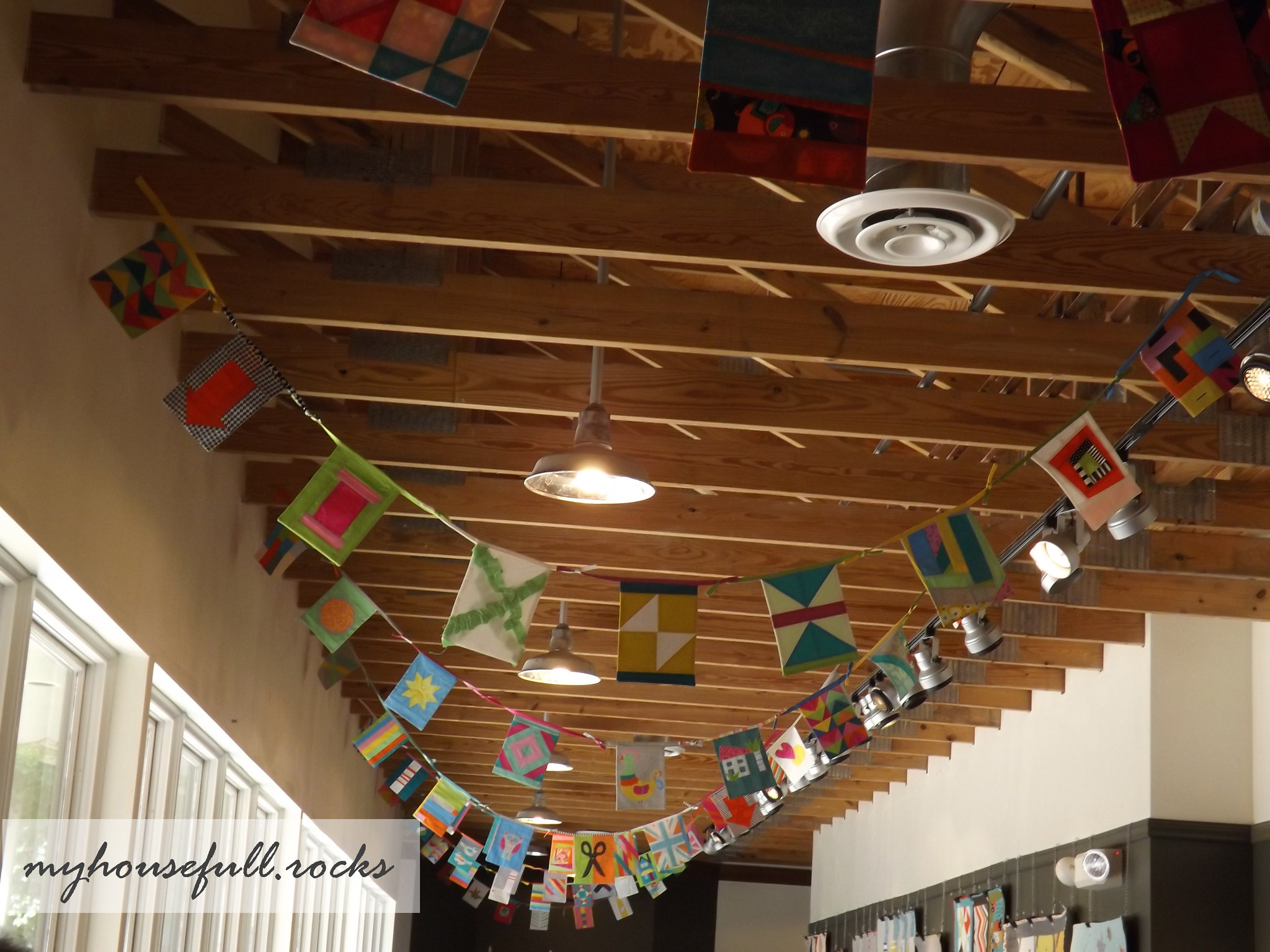 Buntings from the rafters