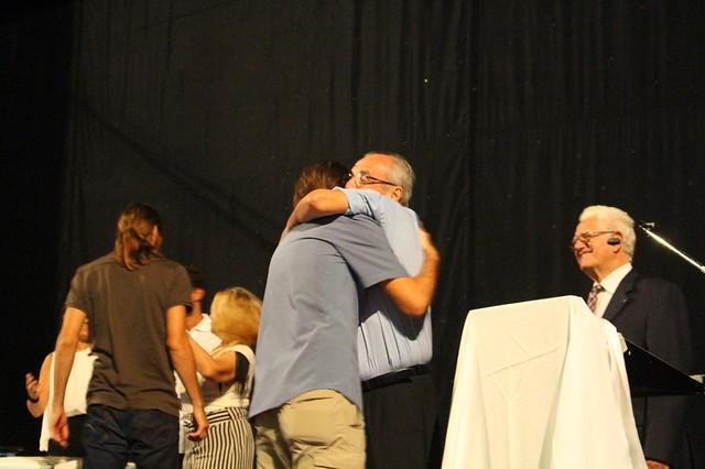 With Papadimitriou Kostis on the stage. Photo: Akiko Takeuchi