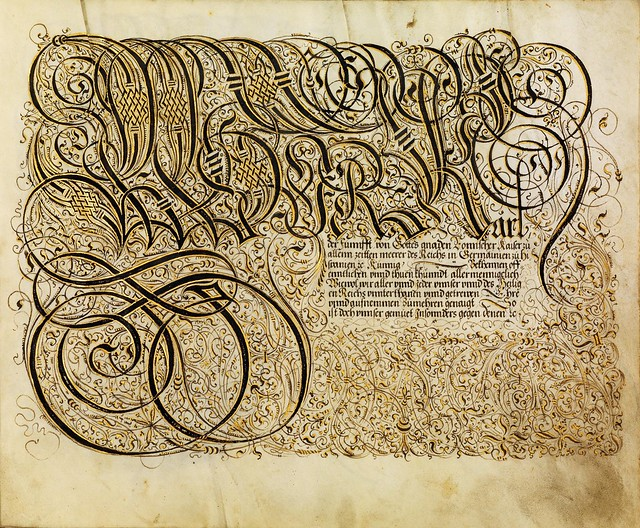 FJ Brechtel calligraphy 16th cent. a
