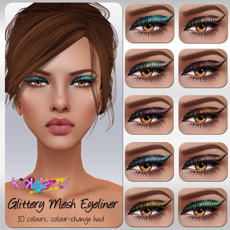 [KoKoLoReS]BP - Glittery Mesh Eyeliner