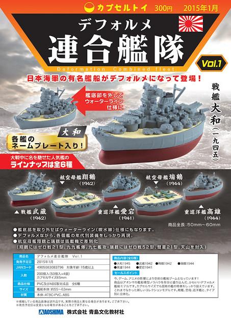 AOSHIMA  蛋型聯合艦隊 Vol.1 轉蛋