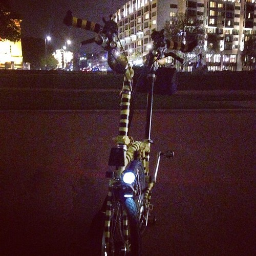 The LEGEND is ready for St. Crispin's Day Night ride 2014 #SCDNR2014 #SCDNR #nightcycling #bromptonbicycle #sonxs #edeluxii