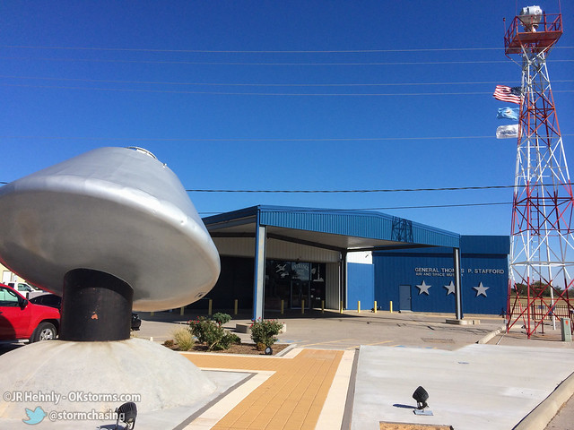 Sun, 10/26/2014 - 14:43 - The entrance to the museum, located at Weatherford's airport. - Stafford Air and Space Museum - October 26, 2014 2:43:57 PM - Weatherford, Oklahoma (35.5443,-98.6704)