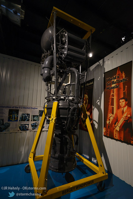 Sun, 10/26/2014 - 15:06 - This is an actual restored engine from a V-2 rocket, the first long-range ballistic missile that was developed by Nazi Germany. - Stafford Air and Space Museum - October 26, 2014 3:06:00 PM - Weatherford, Oklahoma (35.5447,-98.6700)