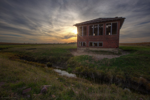sunset brick abandoned southdakota decay hdr