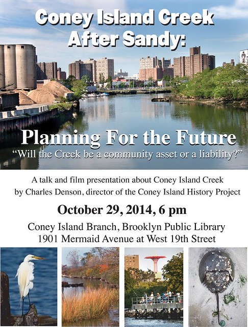 Coney Island Creek Talk Oct 29