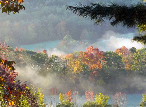 morning autumn mist canada fall colors beautiful leaves fog sunrise colours novascotia view vista gaspereau kingscounty nouvelleecosse gaspereauvalley october2014
