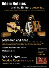 Adam Holmes and the Embers presents ..... on 5 Nov, Edinburgh