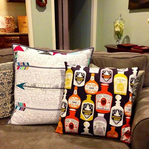 First Halloween pillow finish