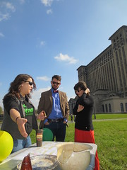 Wayne State anthropology opened its Roosevelt Park archaeological dig site to the public Oct. 25 for International Archaeology Day