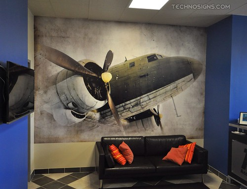 Wall wrap printed by TechnoSigns in Orlando, Florida