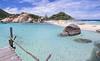 Azure skies and blue waters around  three islets of Nangyuan