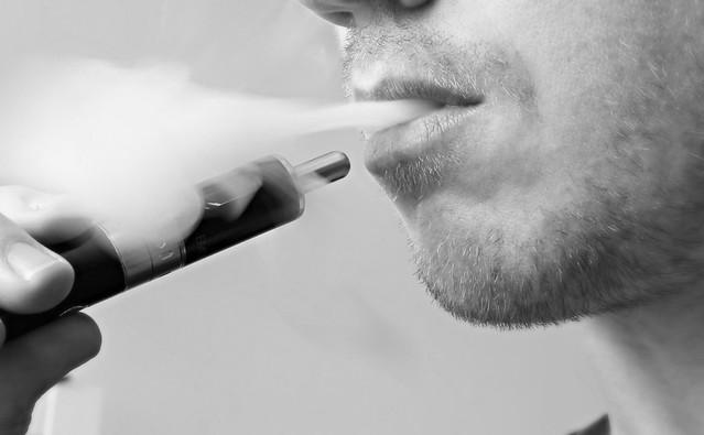 Vaping an Electronic Cigarette / E Cig / Vaporizor