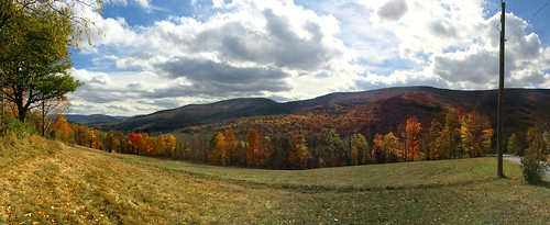 fall colors clouds landscape panoramic foliage newyorkstate catskills iphone visipix