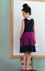 Color Blocked First Day Dress