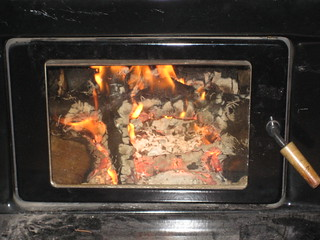 First fire of the year (with flash)
