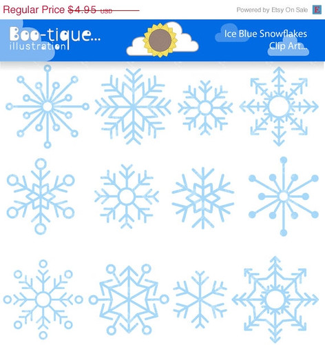 75% OFF Ice Blue Snowflakes Digital Clipart. Snowflake Clip Art Winter Clip Art for Instant Download. Ice Clipart. Christmas Clip Art. Xmas