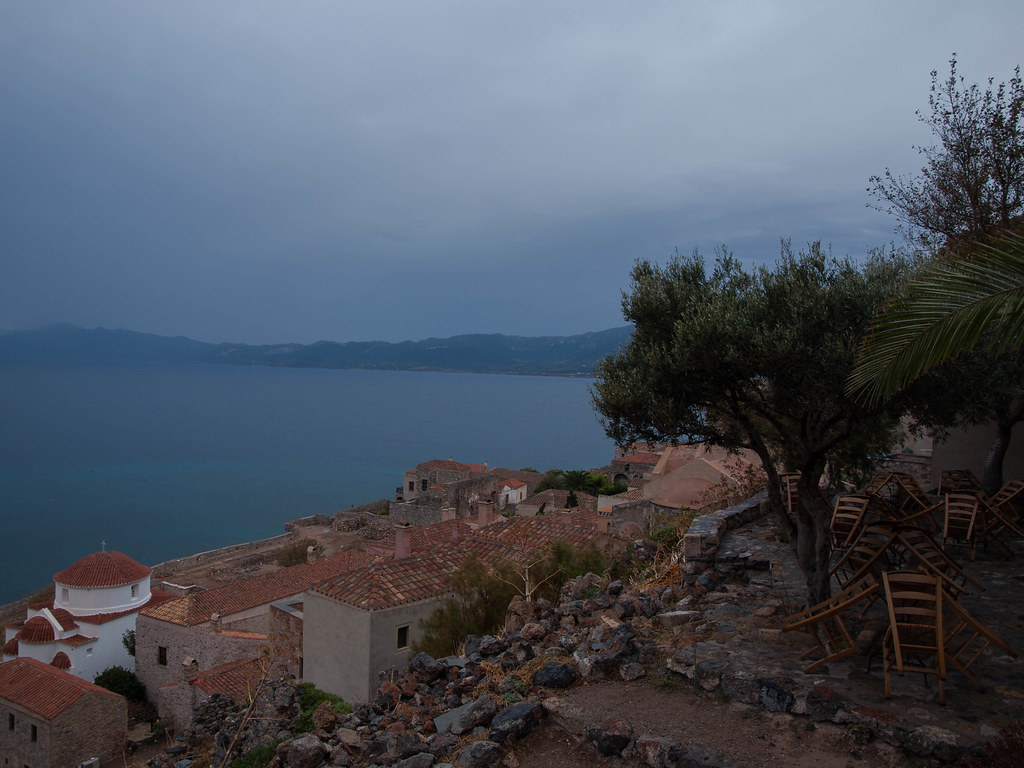 Dusk in Monemvasia