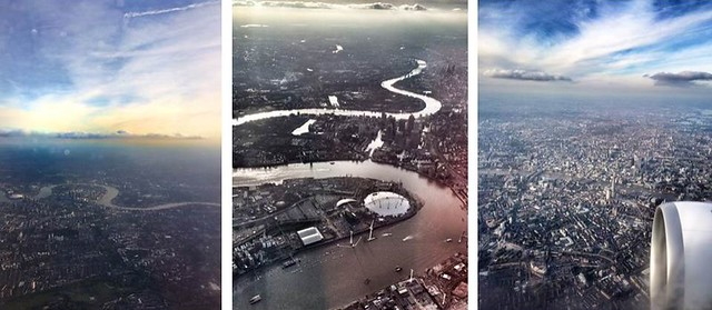 london from the plane