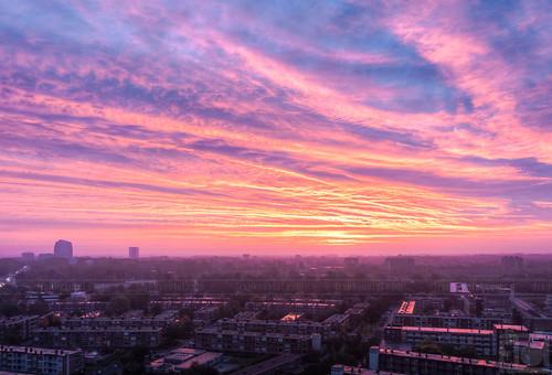 morning sun holland netherlands dutch sunrise cityscape dusk duo nederland thenetherlands uitzicht groningen zon hdr stoker stad ochtend schemering a28 zonsopkomst stadsgezicht julianaplein corpusdenhoorn