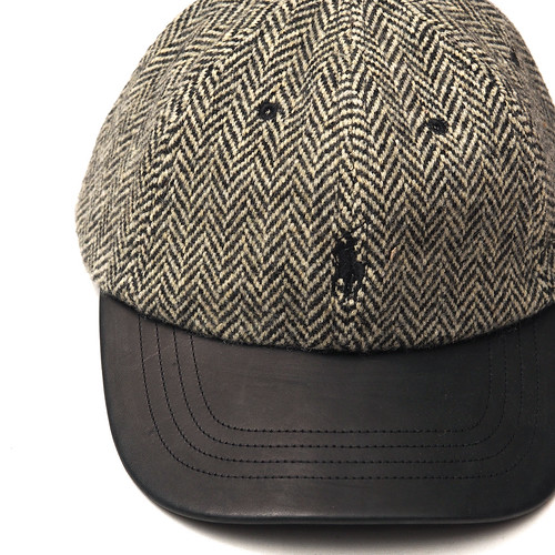 Ralph Lauren / Leather-Bill Tweed Cap