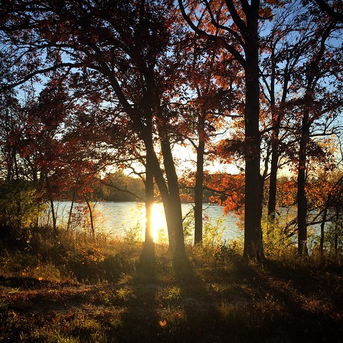 autumn sunset fall wisconsin foxriver nofilter wrightstown littlerapids iphone5s