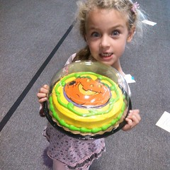 Bird won the cake walk.