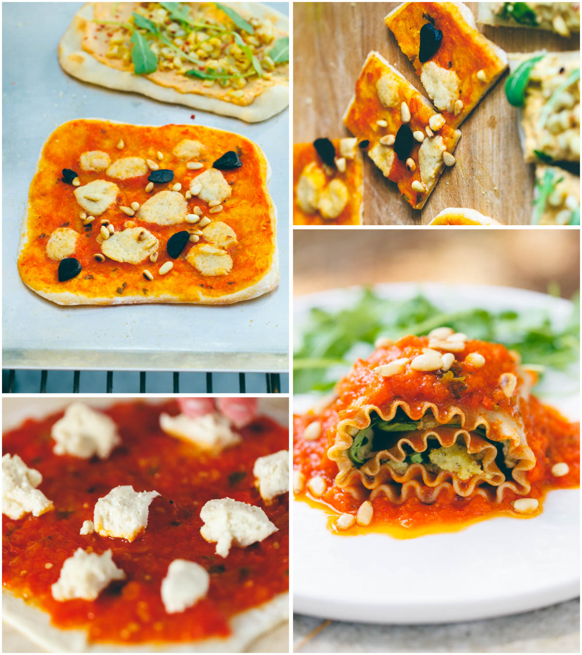 Vegan Pasta and Lasagna Rolls