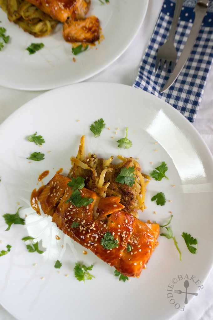 Baked Spicy Korean Salmon