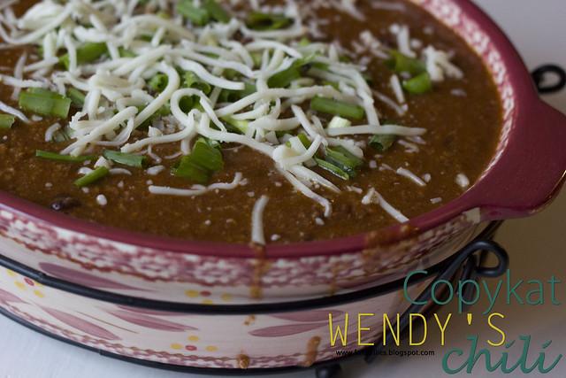 Wendy's CopyKat Chili