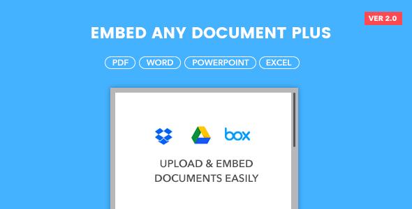 Embed Any Document Plus v2.0.2 - WordPress Plugin