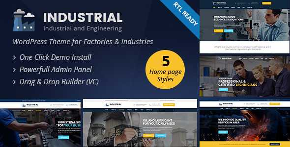 Industrial WordPress Theme free download