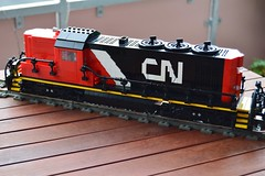 01 - Lego CN Diesel Train Engine In Full High Hood Configuration  - Title Picture No. 1