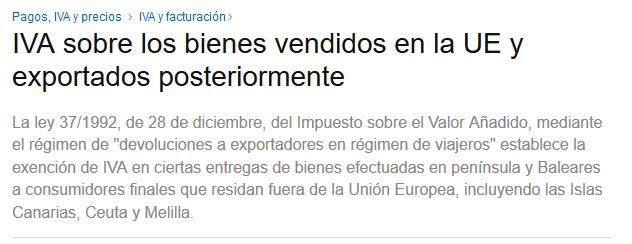Devolucion del IVA Amazon España