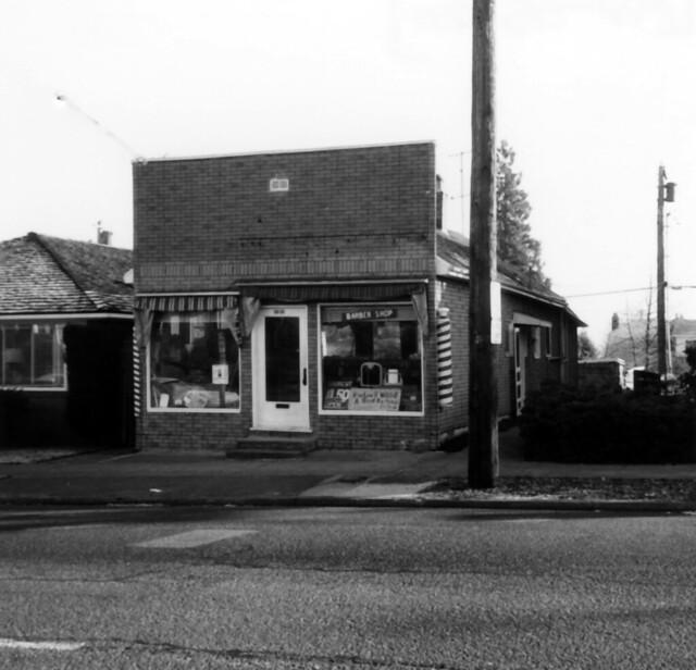 West Seattle barber shop, circa 1976