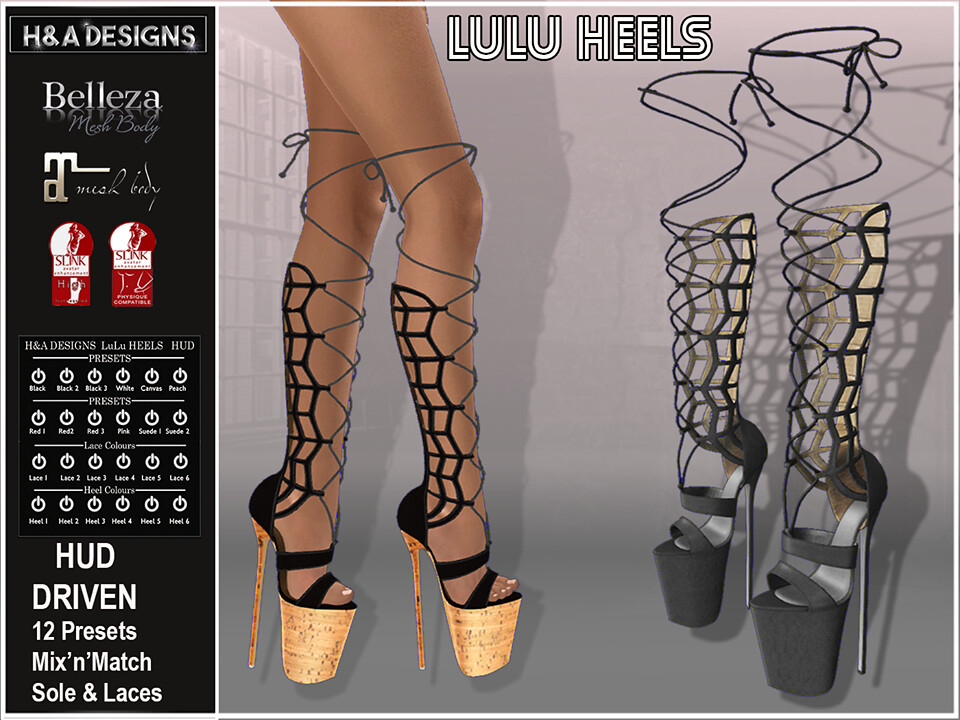 H&A Designs Lulu Heels - SecondLifeHub.com